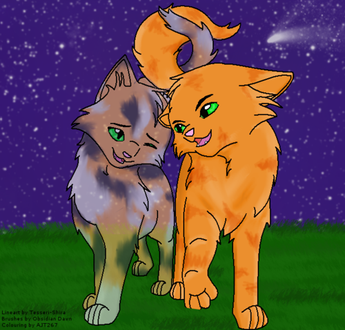 Fanpop Anime kertas dinding possibly containing Anime entitled Firestar And Spottedleaf