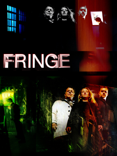 Fringe wallpaper probably with a sign, a concert, and a multiplex titled Fringe-Knurpje