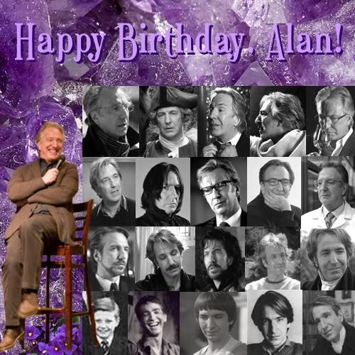 Alan Rickman wolpeyper entitled Happy Birthday sweet Alan :*