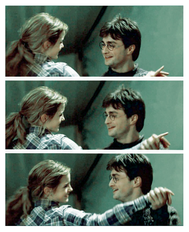 Harry and Hermione wallpaper probably with a portrait titled Harmony