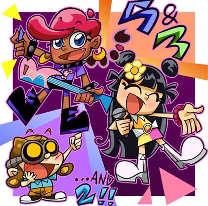 Codename: Kids successivo Door wallpaper containing Anime titled Hi Hi Puffy Ami Yumi+KND