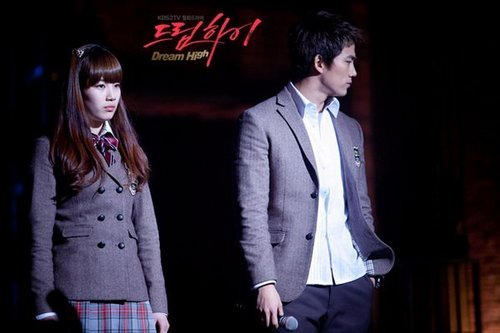 Dream High wallpaper containing a business suit, a well dressed person, and a suit called Hye Mi & Jin Guk