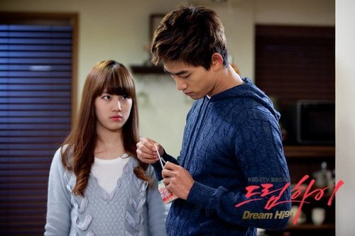 Dream High wallpaper with a well dressed person and a portrait called Hye Mi & Jin Guk