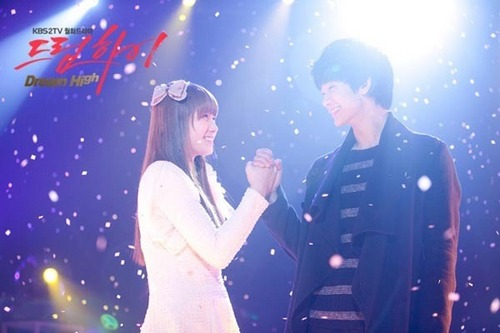 Dream High wallpaper possibly with a concert and a business suit titled Hye Mi & Sam Dong