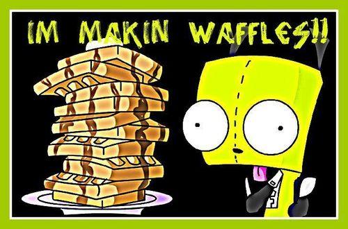 I made waffles!!