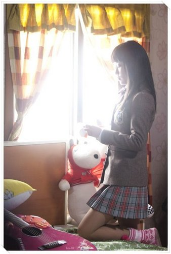 Dream High wallpaper probably with a drawing room, a living room, and a window seat entitled IU as Kim Pil Sook