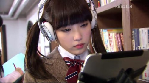Dream High wallpaper possibly with a reading room and an athenaeum called IU as Kim Pil Sook