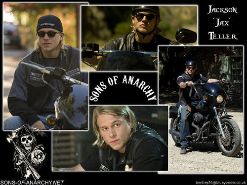"Jackson ""JAX"" Teller वॉलपेपर probably containing a motorcycle cop and a मोटर-साइकिल चलानेवाला, मोटरसाइकिलर, motorcyclist called JAX"