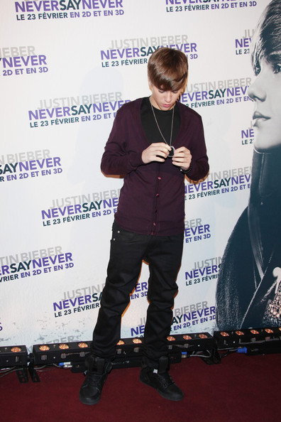Justin Bieber at the French Premiere of 'Never Say Never' - justin-bieber photo