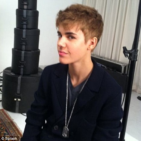 Justin's new short haircut