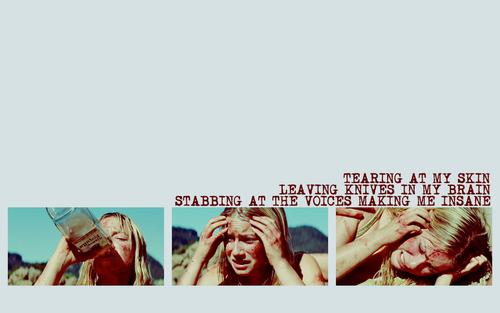'Tearing at my skin'