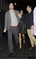 Leaving the ECC Experimental Cocktail Club in China Town February 09 - ashton-kutcher photo