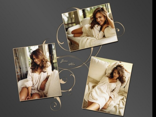 Jessica Alba wallpaper probably with a coffee break and a newspaper titled Lovely Jessica Wallpaper ❤