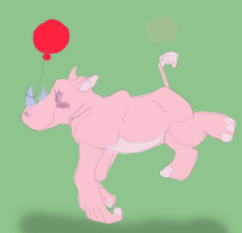 Lulu the Gravity Defying Rhino