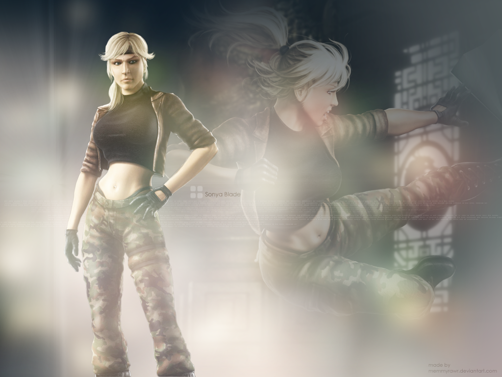 sonya blade images mk: shaolin monks hd wallpaper and background