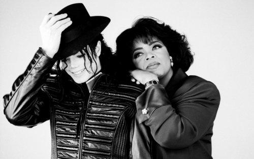 Michael Jackson and Oprah Winfrey [= <3