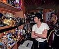 Michael in his closet