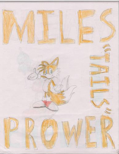"Miles ""Tails"" Prower. Yes, I drew this."