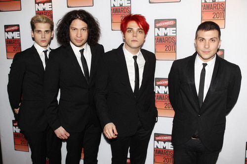 My Chemical Romance Arriving @ the 2011 NME Awards