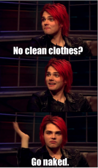 My Chemical Romance wallpaper containing a portrait titled No Clean clothes?