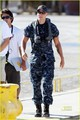 On the set of 'Battleship' - taylor-kitsch photo