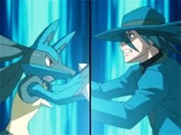 Riley and Lucario Using Aura