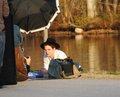 Rob on the set of his new 'Vanity Fair' Photoshoot (Feb. 7, 2011)  - twilight-series photo