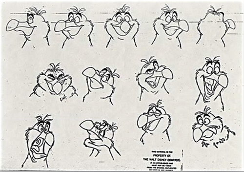 Walt disney Sketches - Scuttle