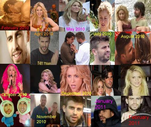 Shakira and Gerard Piqué February 2010 - February 2011