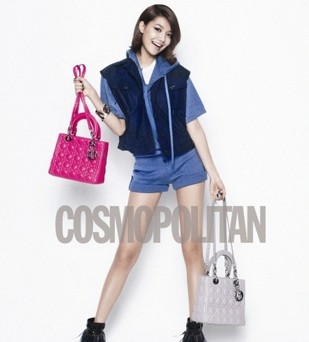 Sooyoung for Dior tote bags and Cosmoplitan