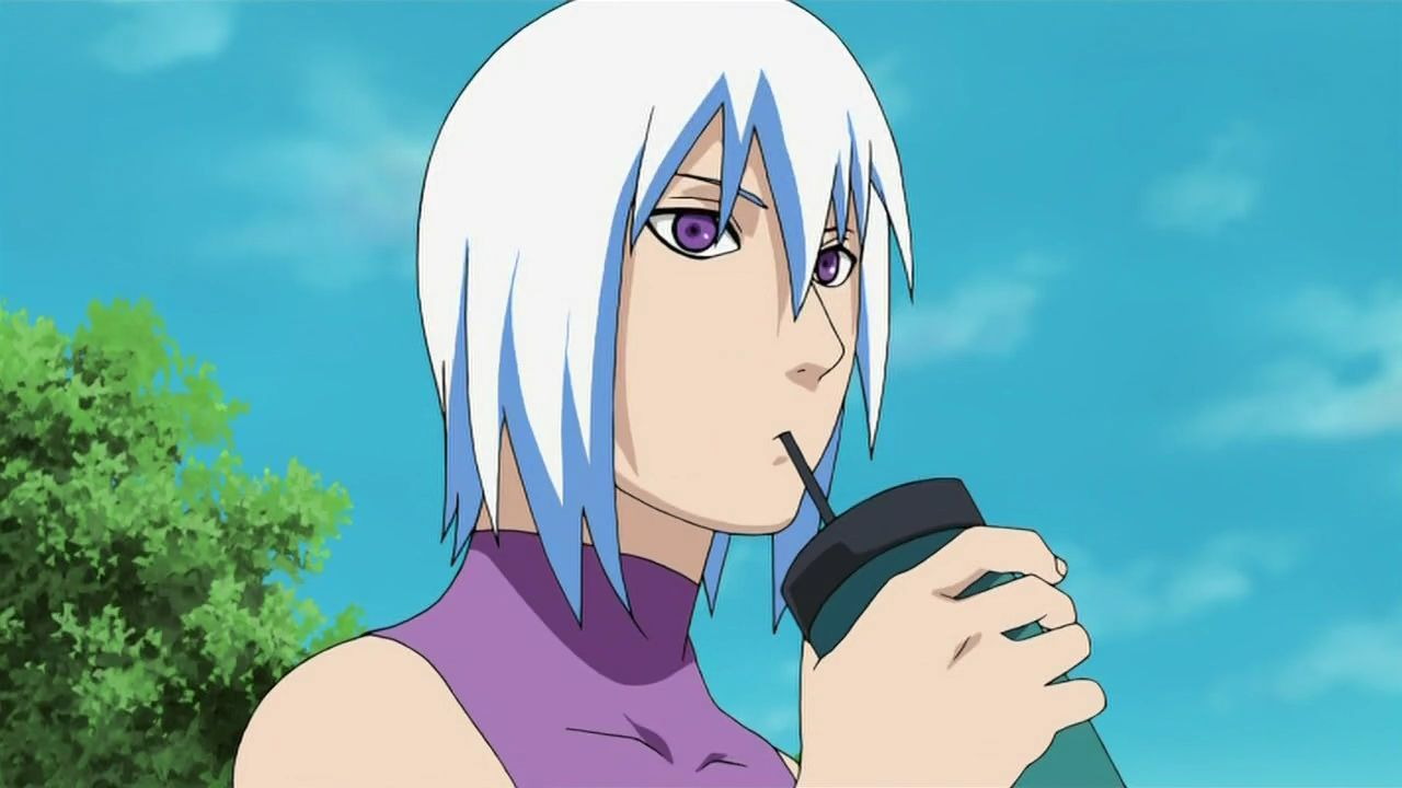 Suigetsu Hozuki, sipping out of water bottle, silly