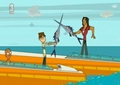 Swordfish Fight - total-drama screencap