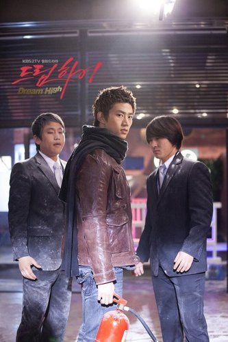 Dream High wallpaper possibly containing a business suit, a vacuum, and a street called Taecyeon as Jin Gook / Hyun Shi Hyuk