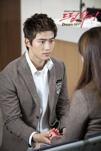 Dream High wallpaper containing a business suit titled Taecyeon as Jin Gook / Hyun Shi Hyuk