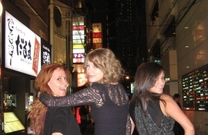 Taylor, Caitlin and Liz in Hong Kong