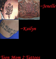 Teen Mom Tattoos