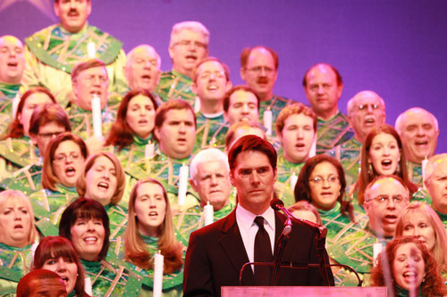 Thomas at the Candlelight Processional