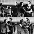 Tim Roth and Quentin Tarantino