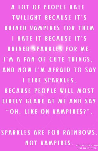 Twilight ruined Sparkles?