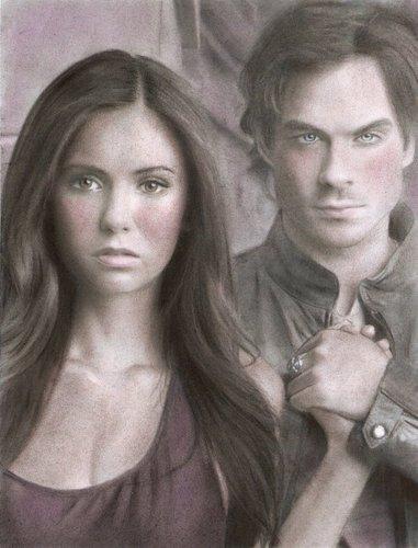 Vampire Diaries fã Art