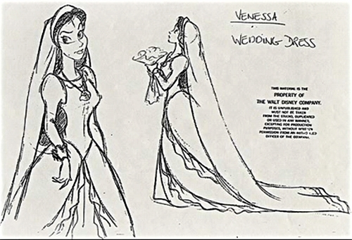 Walt Disney Sketches - Vanessa
