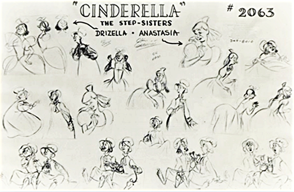 Character Design For Disney : Walt disney characters design drizella anastasia