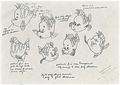 Walt Disney Sketches - Flounder