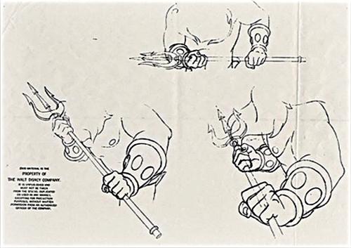 Walt ডিজনি Sketches - King Triton