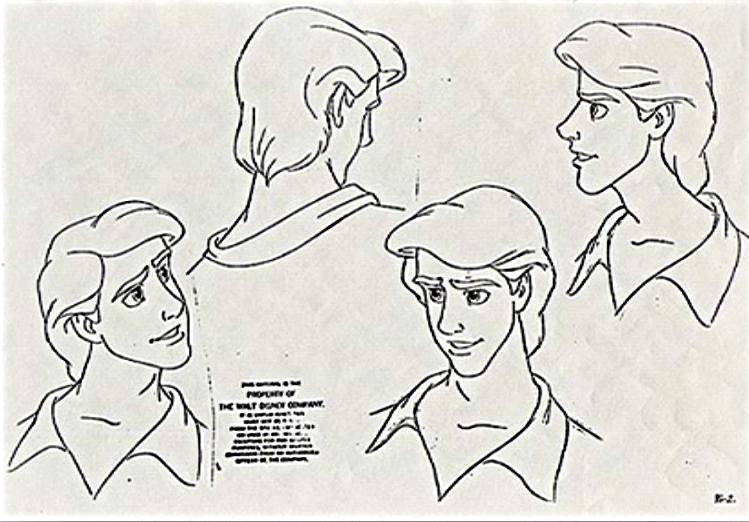 walt disney characters design prince eric walt disney