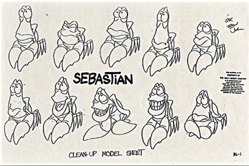 Walt Disney Sketches - Sebastian
