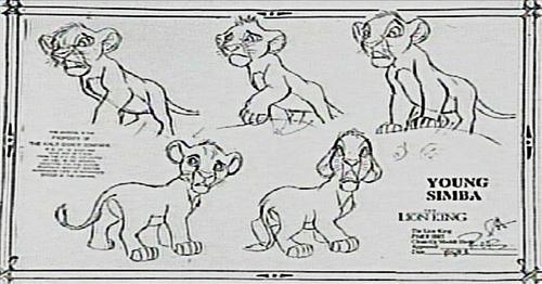 Walt Disney Characters ubunifu - Simba