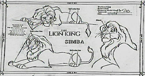 Walt Дисней Characters Дизайн - Simba
