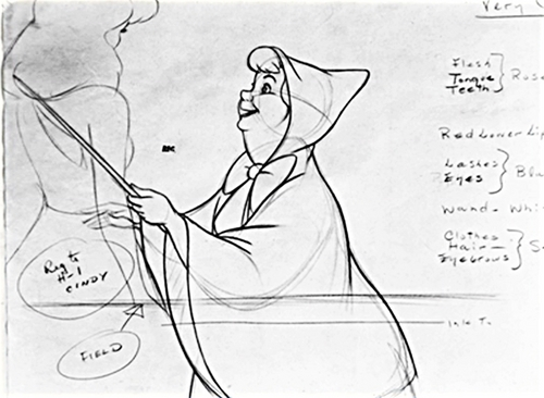 Walt Disney Characters Design - The Fairy Godmother