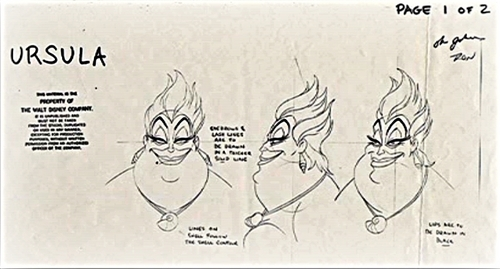 Walt 迪士尼 Sketches - Ursula